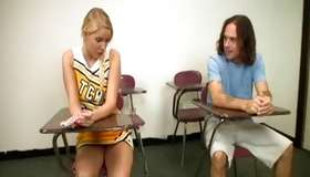 Stimulating admirable fair-haired is daring her bf to cum for 30 seconds
