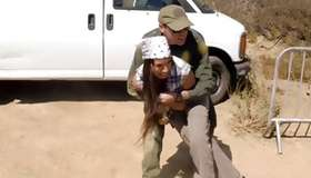 Shapely strumpet got hammered by a border patrol agent xxx