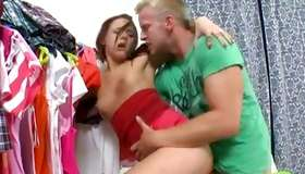 Lustful redhead inexperienced fancies fatty cock interior her holes